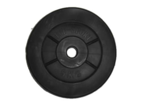 Диски, блины для штанги и гантелей пластмассовый. 5 кг