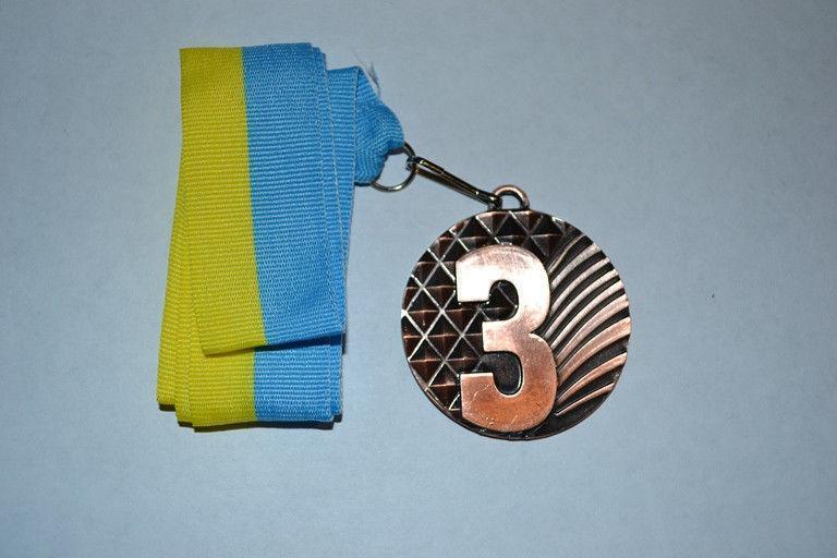 Медаль наградная с лентой, d - 5 см. (бронза) 3 место