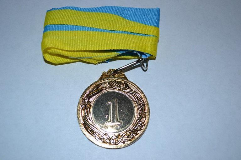 """Медаль с лентой """"Украина"""" d-4,5 (1 место)"""