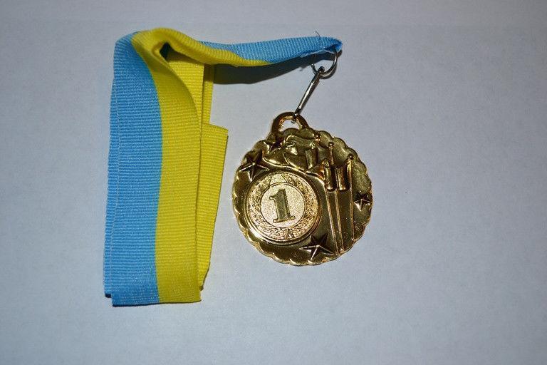 """Медаль с лентой """"Украина"""" (золото) 1 место"""