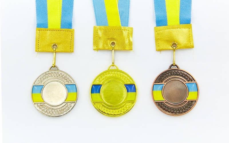 Заготовка для спортивной медали d-5 см с украинской символикой
