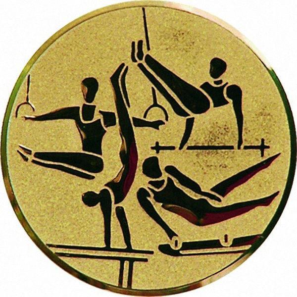 """Наклейка (жетон) на медаль, кубок """"Спортивная гимнастика"""""""