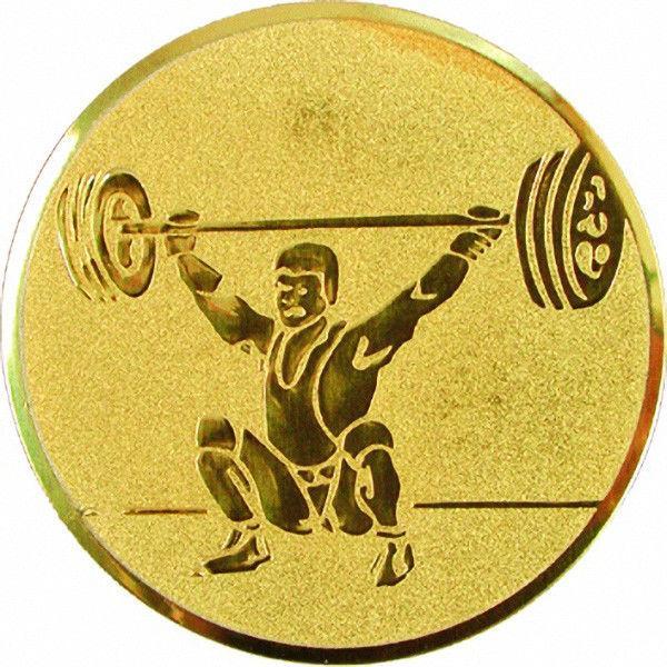 "Наклейка (жетон) на медаль, кубок ""Тяжелая атлетика"""