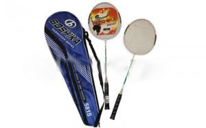 Фото  Большой тенис. Бейсбол. Бадминтон. Сквош, Бадминтон, Ракетки для бадминтона Ракетки для бадминтона (2рак+PVC чехол) BOSHIKA 5815 (сталь)