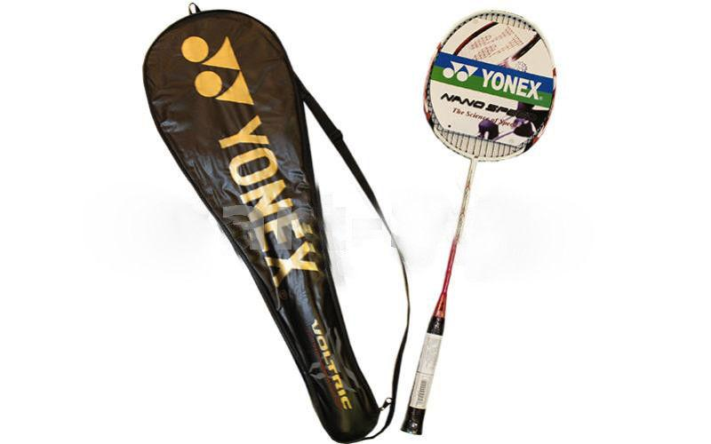Ракетка для бадминтона Дубл. (1шт+PVC чехол) YONEX BD-2001 (сталь, цвета в ассортименте)