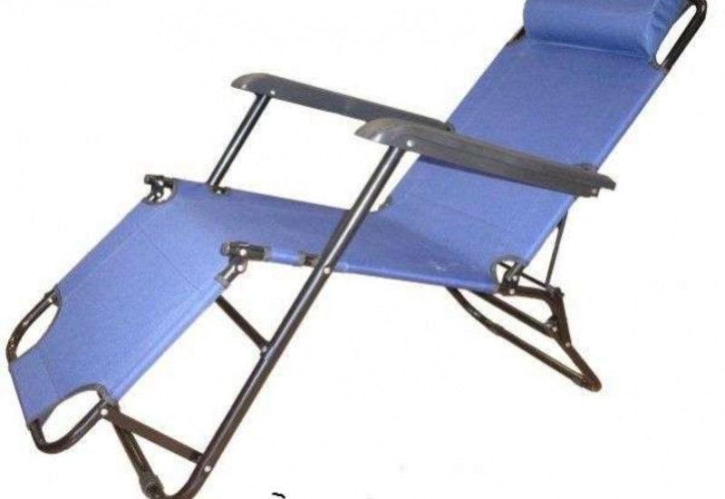 Кресло шезлонг с металлическим каркасом