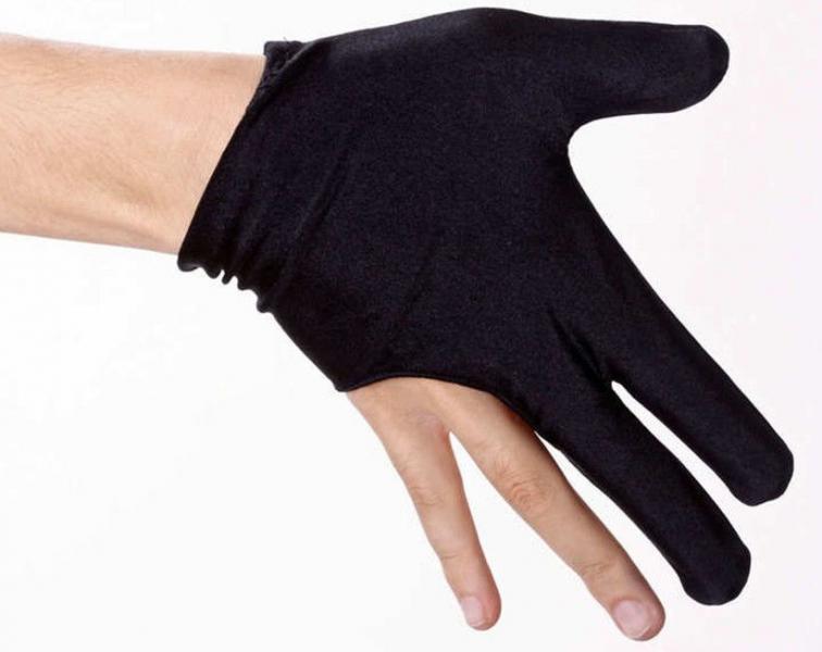 Перчатки для бильярда черные, пара. МЕ-1133