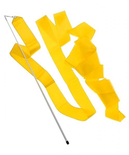 Лента гимнастическая (Цвет: желтый)