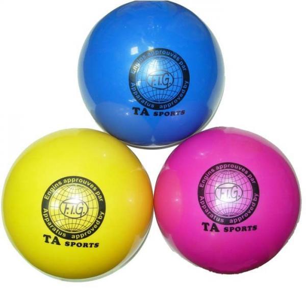 Мяч художественной гимнастики D-19 см (голубой)