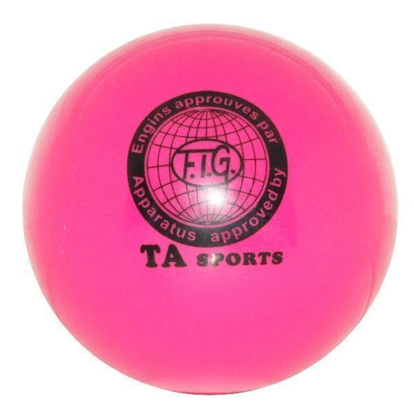 Мяч художественной гимнастики D-19см (розовый)