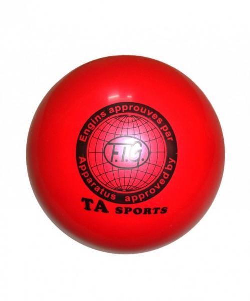 Мяч художественной гимнастики D-19 см (красный)