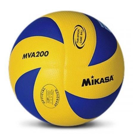 Мяч волейбол. Клееный MIKASA MVA-200 (PU, №5, 3 слоя)