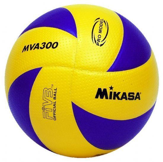 Мяч волейбол. Клееный MIKASA MVA-300 (PU, №5, 3 слоя)