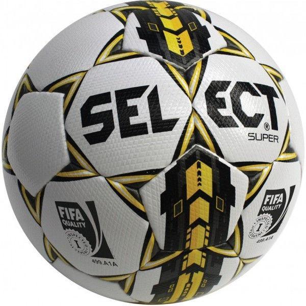 Мяч футбольный №4 SELECT SUPER Club matches and training (FPUG 1200, бел-син-жел)