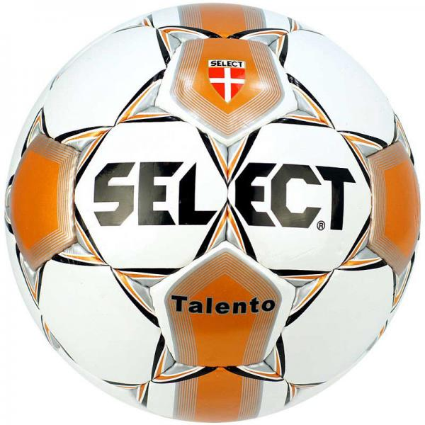 Мяч футбольный №5 SELECT TALENTO-14 Club matches and training (FPUS 1400, белый-оранжевый-салат)
