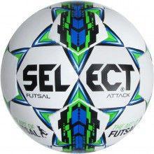 Мяч футзальный №4 SELECT FUTSAL ATTACK (белый-синий-зеленый)