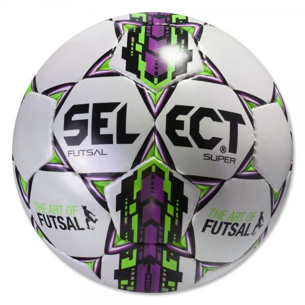 Мяч футзальный №4 SELECT FUTSAL SUPER (FIFA APPROVED) (белый-зеленый-малиновый)
