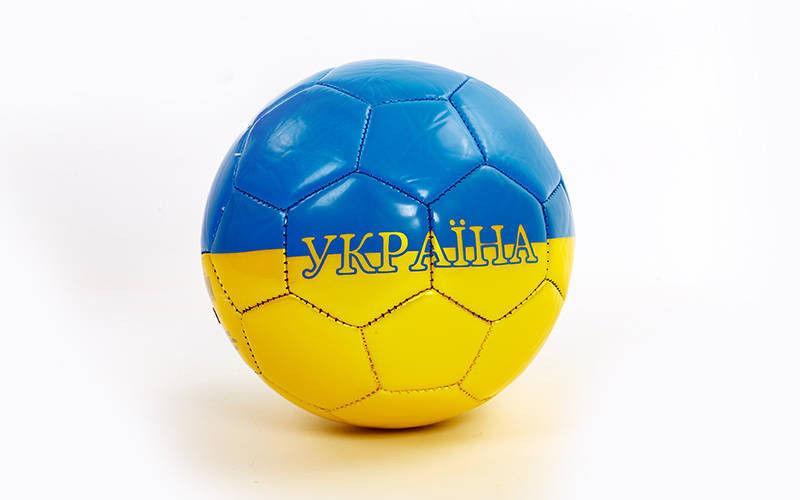 Мяч футбольный Сувенирный Сшит машинным способом(№2, PU глянцевый)
