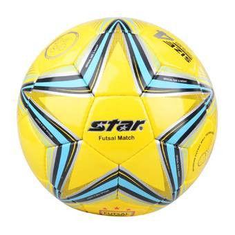 Мяч футзал №4 CORD STAR неон.желтый-черный-оранжевый (5 сл., сшит вручную)