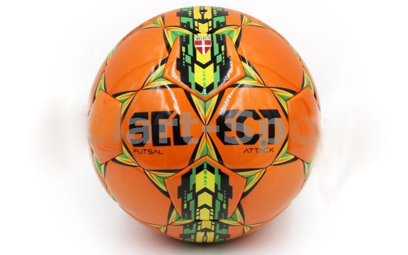 Мяч футзал №4 Клееный-PU SELECT ATTACK (оранжевый)