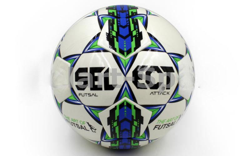 Мяч футзал №4 Клееный-PU SELECT ATTACK (белый)