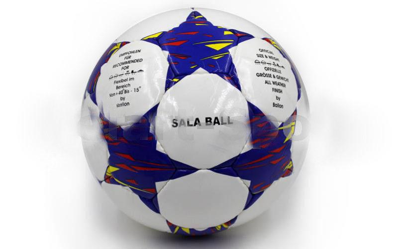 Мяч футзал №4 Ламин. PU CHAMPIONS LEAGUE SL-1519 (5 сл., сшит вручную)