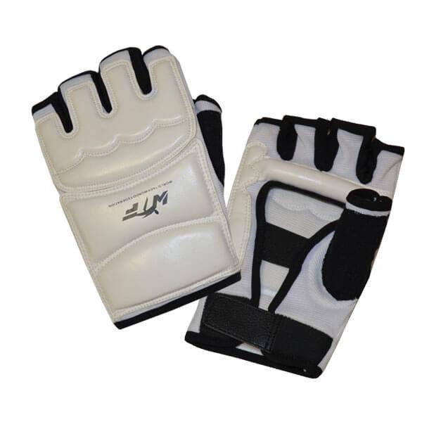 Перчатки тхэквондо PU. Размер: M.Цвет-белый.