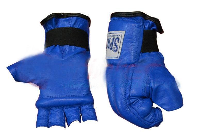 Шингарты кожанные, манжет на резинке.S синий 105-114