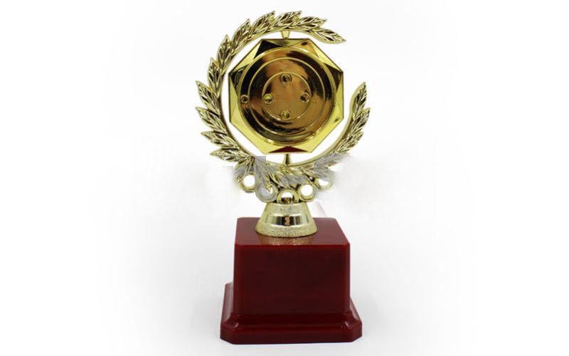 Супер Награда (приз) спортивная с местом под жетон h-17-см