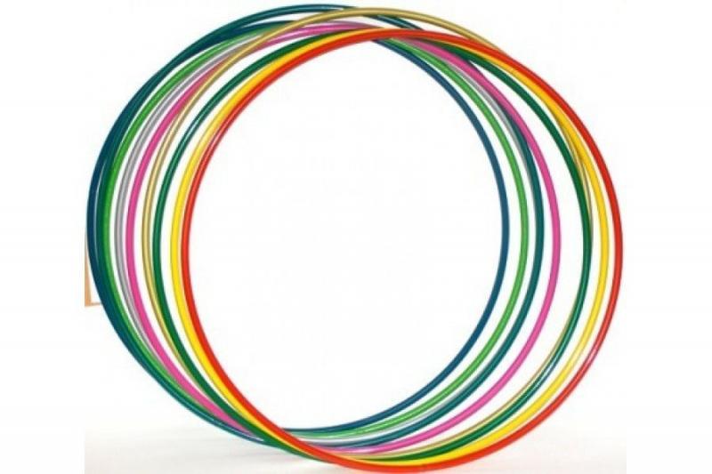 Обруч металлический, цветной. d - 90 cm.