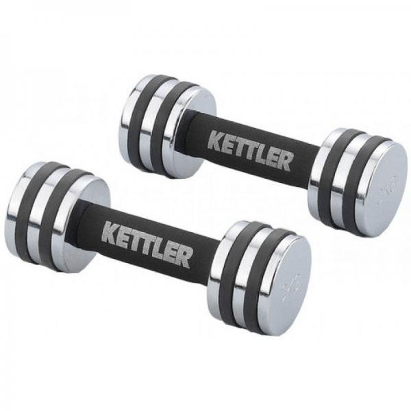 """Гантели для фитнеса хром. """"KETTLER"""" (2 x 4 кг)"""
