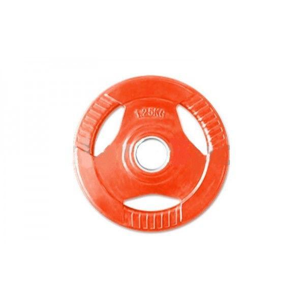 Блины обрезиненные с хватом для штанги 30 мм 1,25 кг (красный)
