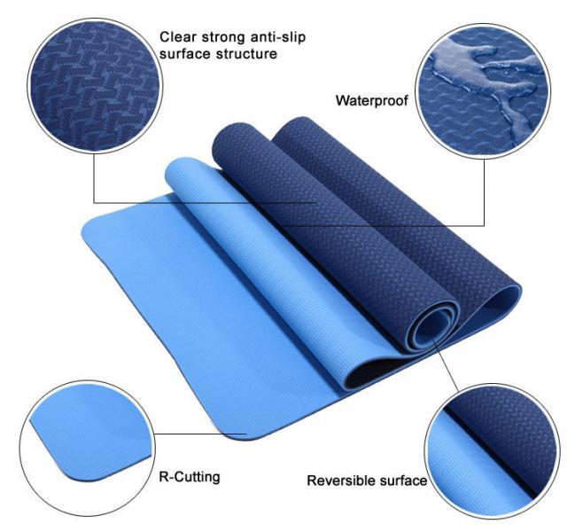 """Коврик для фитнеса 2-х цв. 6 мм """"Yoga mat"""""""