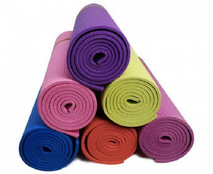 """Коврик для фитнеса PVC 4мм """"Yoga mat"""" (цвета в ассортименте)"""