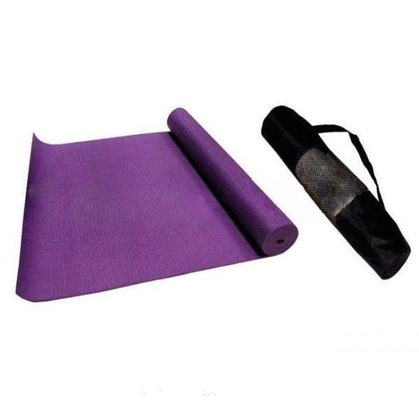 Коврик для фитнеса PVC 4мм с чехлом Yoga mat (синий, фиолет)