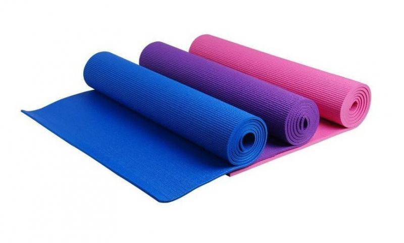 Коврик для фитнеса PVC 6мм Yoga mat (синий, фиолетовый)