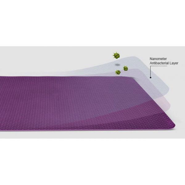 Коврик для фитнеса одноцветный TPE+TC 6мм Yoga mat (цвета в ассортименте)