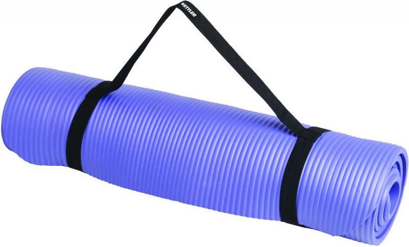 Коврик для фитнеса,каремат NBR 10 мм (син,роз,крас,зел, фикс.резин)