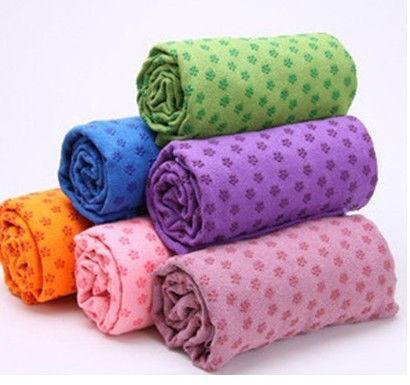 Коврик-полотенце для йоги Yoga mat towel (микрофибра+силикон, цвета в ассортименте)