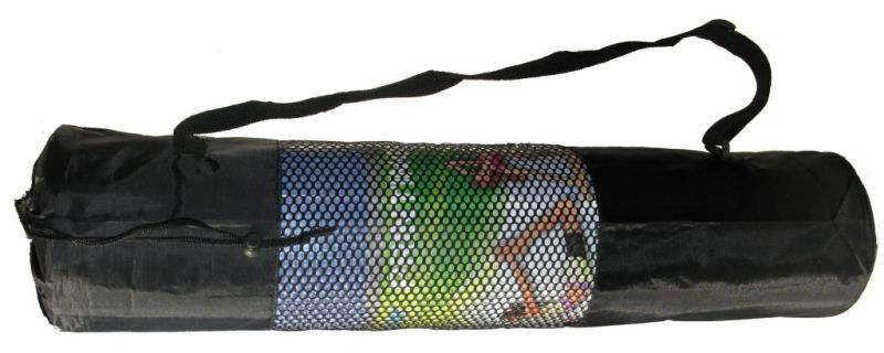 Чехол для коврика Yoga mat (р-р 26 x 66 см, сетка, PL, черный)