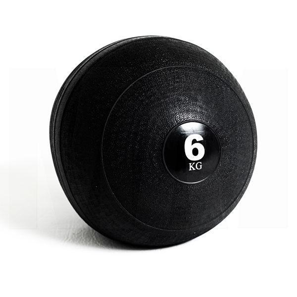 СЛЭМБОЛ Мяч медицинский SLAM BALL SBL001-6 6кг (верх-резина, наполн-песок, d-23см, цвет в ассорт)