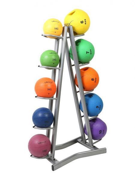 Подставка (стойка) для медболов на 10 мячей(металл, р-р 107х56х147см)