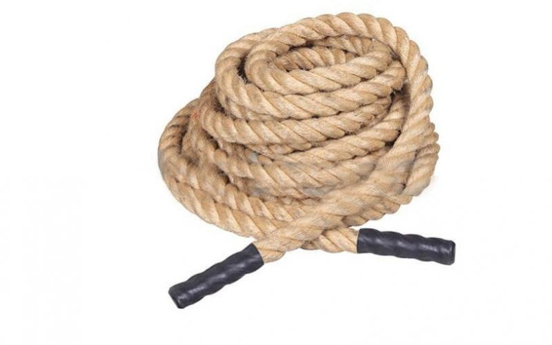 Канат для Кроссфита (Crossfit Battle Rope) SRP001 (сизаль, l-15м, d-3,8см)