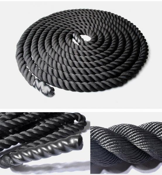 Канат для Кроссфита PS FI-4600-9 COMBAT BATTLE ROPE (полипропилен, ручки: винил, l-9м,d-4см)