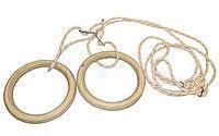 Подвесные гимнастические кольца UR R-4457 (канат-капрон d-10мм, кольцо-фанера d-24см,р-р 24x30мм)