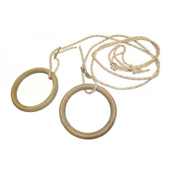 Подвесные гимнастические кольца UR R-4458 (канат-капрон d-10мм, кольцо-фанера d-24см,р-р 28x30мм)