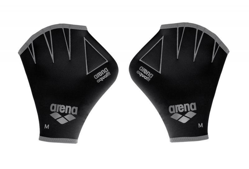 Перчатки для аквафитнеса AR-95187-55 AQUAFIT GLOVES (неопрен, р-р M, черно-серый)