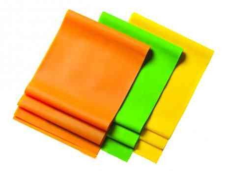 Ленточный эспандер замкнутый (латекс, р-р 104см x 15см x 0,35мм,желтая)