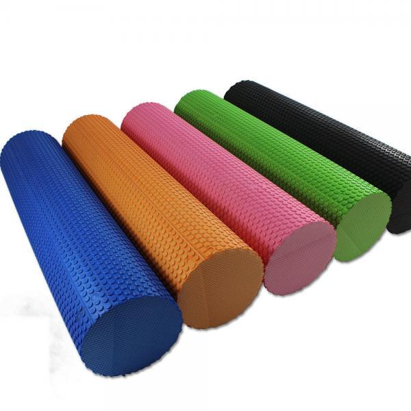 Роллер для йоги массажный l-87 см (голубой)
