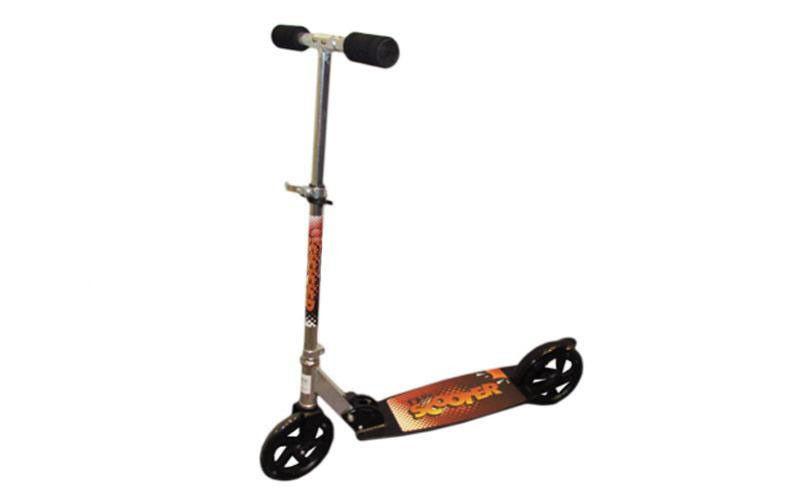 Самокат для взрослых складной CA-200 (металл,колесо-PU,d-200мм,р-р платф. 59х17,5см,АВЕС-7)